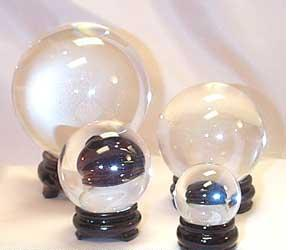 clear quartz crystal balls for scrying and feng shui